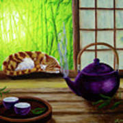 Bamboo Morning Tea Art Print