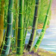 Bamboo Variegations Art Print