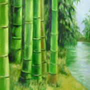 Bamboos By The River Art Print