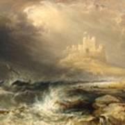 Bamborough Castle Art Print by Willliam Andrews Nesfield