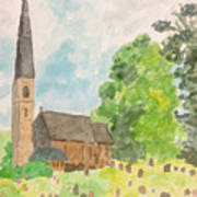 Bamford Church And Serenity Of Nature Art Print