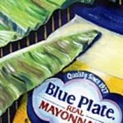 Banana Leaf Series - Blue Plate Mayo Art Print by Terry J Marks Sr