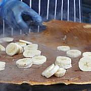 Banana Nutella Crepe Art Print
