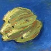 Banana On Blue Bandana Art Print