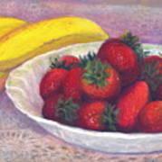 Bananas And Strawberries Art Print