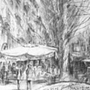 Bancarelle In Via Nomentana Rome Art Print