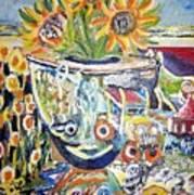 Band 4 Sunflowers Three Art Print