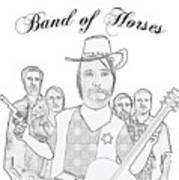 Band Of Horses Art Print