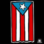 Bandera De Puerto Rico Art Print