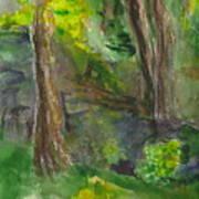 Bandera Trees Art Print