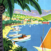 Bandol, French Riviera, Boats On Port Art Print