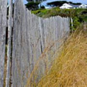 Bandon Beach Fence Art Print