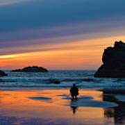 Bandon Sunset Photographer Art Print