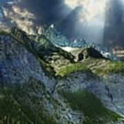 Mount Cory, Banff Art Print