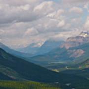 Banff National Park - View Through The Valley Art Print