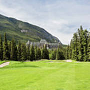 Banff Springs Golf And The Castle Art Print