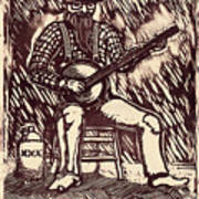 Banjo Hero Art Print by Mathew Luebbert