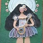 Banjo Lady Art Print