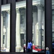 Bank Of Montreal Reflection Art Print