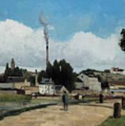 Banks Of The Oise At Pontoise Art Print