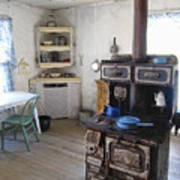 Bannack Ghost Town  Kitchen And Stove - Montana Territory Art Print