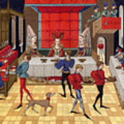 Banquet, 15th Century Art Print