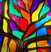 Banyan Tree Abstract Art Print