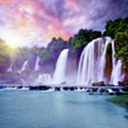 Banyue Waterfall Art Print