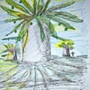 Baobab Grove Art Print