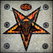 Baphomet - Satanic Pentagram - 666 Art Print