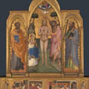 Baptism Altarpiece Art Print