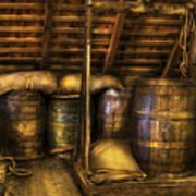 Bar - Wine Barrels Art Print