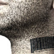 Bar Code On Neck Art Print