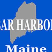 Bar Harbor Maine City And Town Pride  Art Print