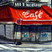 Bar Les 3 Quartiers Art Print