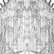 Barad-dur Gate Study Art Print