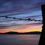 Barbed Wire Sunset Art Print