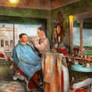 Barber - Getting A Trim 1942 - Side By Side Art Print