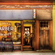 Barber - Towne Barber Shop Art Print