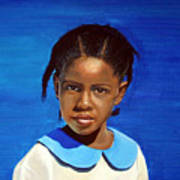 Barbuda School Girl Art Print