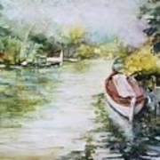 Barcas En La Albufera II Art Print