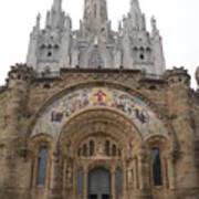 Barcelona - Temple Expiatori Del Sagrat Cor Art Print