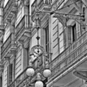 Barcelona Balconies In Black And White  Art Print