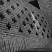 Barcelona Brick Wall Art Print
