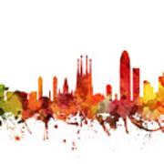 Barcelona Cityscape 04 Art Print