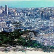 Barcelona Desde El Tibidabo Art Print