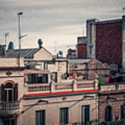 Barcelona Roofscape Art Print