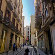 Barcelona Street Scene Art Print