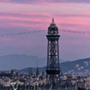 Barcelona Sunset Art Print