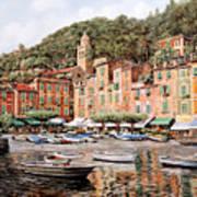 barche a Portofino Art Print